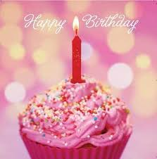 Happy Birthday Card Birthday Cup Cake Design Square Size 525 X 525