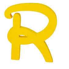 Disney Font Extra Large Disney Font Freestanding Wooden Letters Personalised Alphabets Name Plaques Words Yellow Letter R