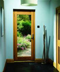 pattern 10 double glazed external oak door dowelled with clear glass lifestyle roomshot 2