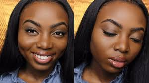 simple everyday makeup tutorial for dark skin