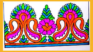 Saree Border Designs Images Draw Saree Border For New Embroidery Designs Pencil Sketch Designs For Embroidery Saree