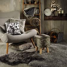 faux fur rug two tone sequin cushion aldi specials