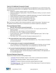 university of california application tips part personal statm 3