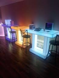 light up table portable bars led tables furniture lighted shelves and illuminated catering stands spring ideas light up