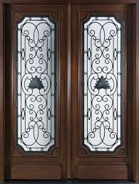 glass double door. Outstanding Double Entry Door As Home Element Design Ideas : Fabulous Furniture For Glass O