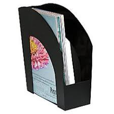 office depot brand arched plastic magazine file 8 12 x 11 black by office depot cep ice magazine rack