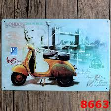 30x20cm london yellow motor vintage home decor tin sign for wall
