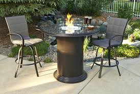bar height patio table with fire pit amazing round dining height fire pit table intended for