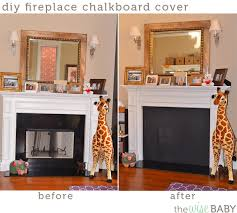 perfect design fireplace cover diy chalkboard the wise baby contemporary ideas fireplace cover insulated