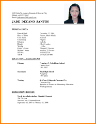 Resume Sample For Job Application Filipino Gentileforda Com