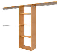 solid wood closets 16 depth closet organizer system maple e finish