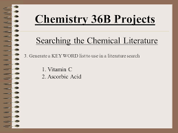 chemistry b projects introduction and project assignments  6 chemistry