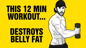 12min Belly Fat Destroyer Workout : Get 6 Pack Abs Fast - YouTube