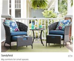 Outdoor Furniture Collections for Small Spaces Lowe s