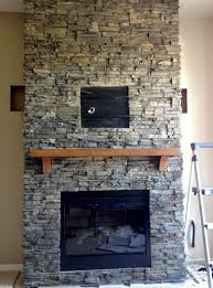 gallery for stacked stone fireplace designs