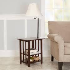 better homes gardens 3 rack end table floor lamp espresso finish com