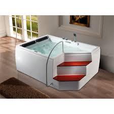 surf hydro massage bathtub with two steps