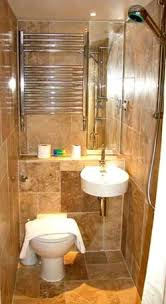 Perfect Small Bathroom with Great Design : Beautiful Contemporary Design In  A Small Bathroom Interior With