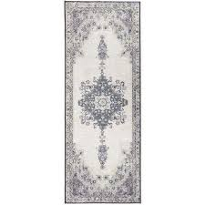 washable parisa grey 2 5 ft x 7 ft stain resistant runner rug