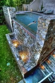 backyard infinity pools. Tanning Deck + Hot Tub Infinity Pool Waterfall \u003d My Backyard Pools O