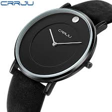 compare prices on slim thin watches men online shopping buy low crrju brand watches men s leather slim thin quartz business casual waterproof watch fashion tide leading men