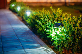 led garden lighting ideas. Bollard Lights Along A Pathway Are An Excellent Garden Lighting Idea Led Ideas I