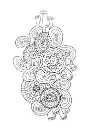 Zen Antistress Motif Abstrait Inspiration Florale 3 Par