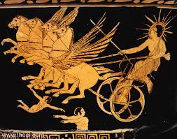 phaethon son of the sun god of greek mythology chariot of the sun god athenian red figure krater c5th b c british