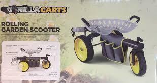 gorilla carts rolling garden scooter g0rrgc metal strong 400 lb capacity 722571010881