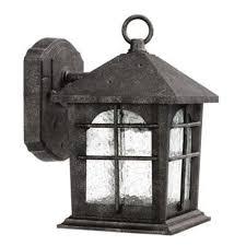 hampton bay solar lantern outdoor garden landscape light bronze finish