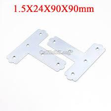 40pcs metal flat corner braces t shape furniture connecting fittings frame board support brackets fastener parts
