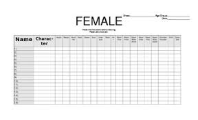 Blank Female Costume Chart By Dramatic Doorknobs Tpt