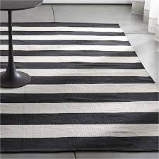 olin black striped cotton dhurrie 8 x10 rug reviews crate and barrel