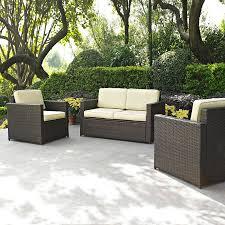 crosley furniture palm harbor 3 piece wicker patio