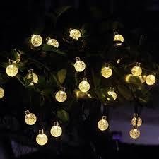 Amazon Solar Outdoor String Lights Amazon Com Ball String Lights Solar Powered 30 Led 21 Ft 8