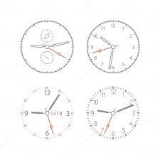 Watch Dial Design Template Modern Digital Watch Dials Template Stock Vector