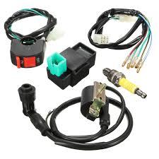 wiring loom kill switch coil cdi spark plug kit for 110cc 125cc ebay at Pit Bike Wiring Harness Kits