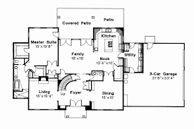 house plan for two families two kitchens awesome colonial house plans kearney 30 062 associated designs