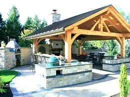 covered outdoor kitchen structures designs plans rustic patio ideas cost living design de