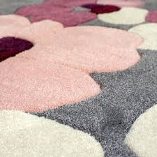 pink and grey rug infinite blossom round rug grey pink pink and grey rug dunelm