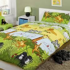 jungle safari animal single duvet cover pillowcase set bedding