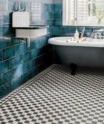 victorian black white chequer tile