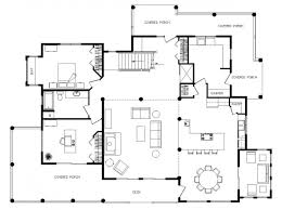Salmon River Log Home Floor Plan  Caribou Creek Log U0026 Timber Open Log Home Floor Plans