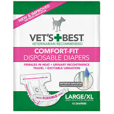 Comfort-Fit Disposable Female Dog Diaper 12 pack | LMC Trading Co.