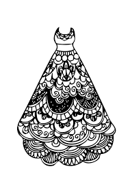 Small Picture Dress lace coloring page for girls printable free coloring 5