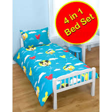 Mickey Mouse Bedroom Accessories 4 In 1 Character Bedding Bundles To Fit Junior Amp Toddler Beds