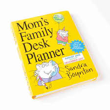 2017 mom s family desk planner close up view of stickers front view of planner