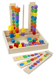 melissa doug bead sequencing set with 46 wooden beads and 5 double sided pattern boards melissa doug toys best toys for 3 4 year olds