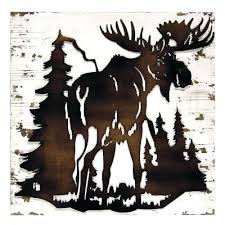 for moose silhouette find this pin and more on moose metal wall art sports silhouette metal  on sports silhouette metal wall art with enjoyable design wildlife wall art home decor ideas nobility by