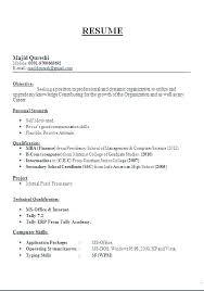 Sample Resume Format Pdf Sample Resume Sample Resume For Sample